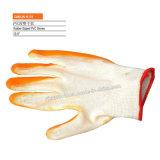 Перчатки Coated хлопка латекса K-50 Pollycotton Crinckle работая