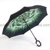 Зонтик выдвиженческих новых деталей портативный Handsfree прямой обратный перевернутый