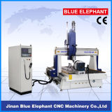 Ele-1530 3D Snijdende CNC van 4 As Router met Roterend Apparaat in China