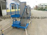 Einzelner Mast hydraulisches Electirc Luftplattform-Passagier-Höhenruder/Heber