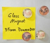 Imán del vidrio del diámetro 35m m