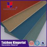 Composé en aluminium de panneau de feuille de revêtement de mur d'Alucoworld PVDF