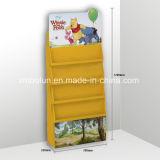 Kundenspezifische attraktive rote Farben-Buch-Standplatz-Schablonen-Pappbildschirmanzeige