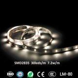 Luz de tira de la tira SMD2835 los 30LEDs/M 7.2W LED de la decoración LED del partido