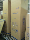 Refrigerador vertical de la puerta de cristal de 268 litros con el enfriamiento del ventilador (LG-268F)