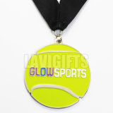 カスタム金版の金属メダル生産者の供給はテニスのスポーツの高品質の締縄が付いている入賞した記念品メダルを主演する