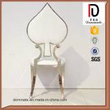椅子を食事している白人PUの革ステンレス鋼フレームの女王
