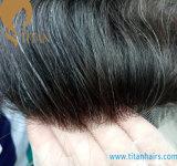 Toupee superiore 100% dei capelli umani di Remy con il Frontal del merletto