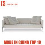 Mobília de couro superior italiana do sofá do sofá 3seater de Geniune da cor branca para a sala de visitas