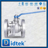 Robinet à tournant sphérique de flottement de Didtek api 6D Ss304L 2 PCS