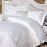 100%年の綿のサテンの平野の白いホテルの寝具セット(DPF2475)