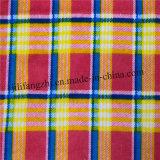 Tela roja teñida hilado de la tela escocesa de la franela por la yarda