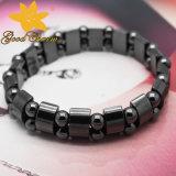 Htb-005 Armband van het Hematiet van de Halve cirkel van de Opening van de Juwelen van de manier de Magnetische Dubbele