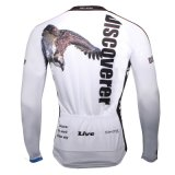 Куртка спортов покрывает орел белизны Джерси длинней втулки людей Breathable быстро сухой задействуя