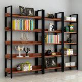 Estante del estante del soporte de Steel&Wood de los libros para la visualización