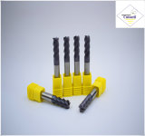Cutoutil HRC45 TialnのコーティングD5*13*D6*50 鋼鉄CNCの機械化の部品&#160のための2f/4f; Square 炭化物の端製造所のツール