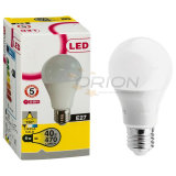A60 bulbo plástico de alumínio 9W do diodo emissor de luz da carcaça E27