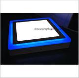 Luz de painel quadrada do diodo emissor de luz de duas cores para a superfície (3 etapas) (18+6) W