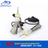 Kit 6000k del faro dell'automobile della lampadina del CREE Xhp50 LED di alta luminosità 40W 4000lm H11 R3 LED