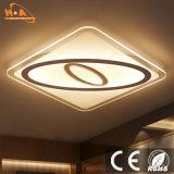Cristal de interior ultra delgado moderno de la luz de techo de la iluminación LED del cuadrado