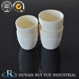 Crogioli di ceramica dell'alta allumina del refrattario 99% per il riscaldamento