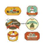 Etiket van het Silicone van Halloween van de Sticker van het Etiket van diverse Kerstmis het Zelfklevende 3D