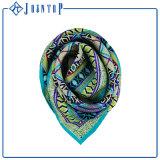 Personalizar o lenço de seda de seda quadrado do Twill