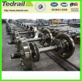 Insieme di rotella locomotivo del vagone, rotella d'acciaio da vendere, prodotto professionale del treno per il calibro stretto