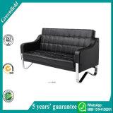 Sofa moderne confortable exquis en cuir noir économique de maison de présidence de réception