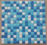 Het glanzende Glanzende Mozaïek van het Glas van het Ontwerp van Iridensent Radom van de Oppervlakte Heldere Blauwe