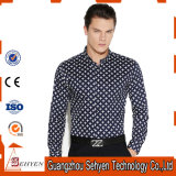 Nuove camice di vestito convenzionale da affari del cotone di disegno con il manicotto lungo