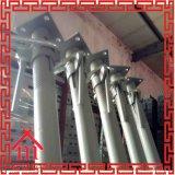 Apoyo de acero del andamio del apuntalamiento ajustable para utilizar del bloque de cemento