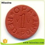 OEM Plastic Symbolische die Muntstukken in de In het groot In reliëf gemaakte Plastic Symbolische Muntstukken van China worden gemaakt