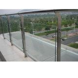 Guarniciones al por mayor del vidrio de la barandilla del pasamano del acero inoxidable del precio de fábrica