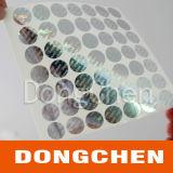 Etiqueta engomada del holograma de la impresión de la marca registrada de la seguridad del cifrado