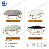 Table basse verre-métal de bâti de modèle de marbre neuf de polygone