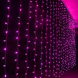 LEDの純カーテンはクリスマスの祝祭の装飾をつける