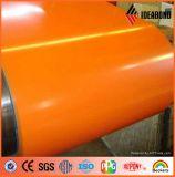Bobina de aluminio cubierta color para el revestimiento de la pared interior (AE-38C)