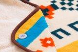 Shuのベルベティーンの赤ん坊毛布/Sherpaの赤ん坊毛布が付いている印刷された珊瑚の羊毛