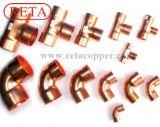 Encaixe de tubulação de cobre para conetar