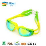 Lunettes en gros de natation aucun bâti UV disjoint de silicones d'épreuve d'anti regain