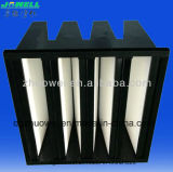 Ventilaton Mini Pleat Compact V Bank Filtro HEPA