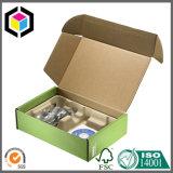 Rectángulo de empaquetado ranurado regular del almacenaje acanalado de la impresión de color del cartón
