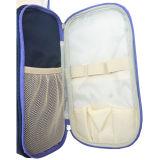 Sacchetto cosmetico d'attaccatura su ordinazione impermeabile dell'articolo da toeletta dell'organizzatore del kit di corsa del blu marino