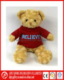Jouet de bébé de Brown de peluche de T-shirt d'ours de nounours