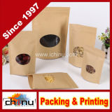 Sac de papier personnalisé de Papier d'emballage de farine de sucre blanc de café avec l'impression de propriétaire (220110)