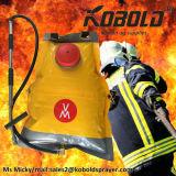 真鍮のハンドポンプを搭載する20L PVC森林消火活動型バックパック