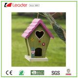 Birdhouse do jardim de Polyresin do bestseller para a decoração do gramado e da árvore