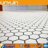 Plancher de tuile de PVC d'hexagone personnalisé par qualité