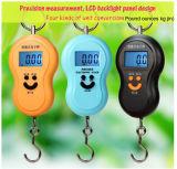 40kg * 10g mini Digitas que penduram com a escala portátil da bagagem do LCD
